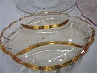 Depression and Cornflower Glass Servingware