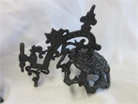 Victorian Cast Iron Light Fixture Holders