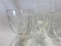 Grouping of Vintage Glass Goblets
