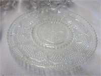 Pair of Crystal Bowls, Plate and Coasters