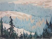 Rare Silk Screen Landscape by EDWIN MATTHEWS