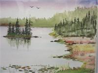 Newfoundland Artist CLARENCE OSMOND Watercolour