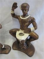 Pair of Treasure Craft Hawaiian Figurines