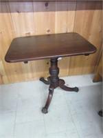 Early Canadian Mahoghany Tilt Top Table