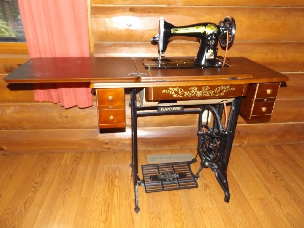 Antique Euro Pro Treadle Sewing Machine
