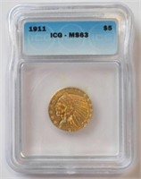 LIVE IN-HOUSE BIDDING! Graded Coin Collection 11/15
