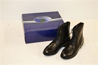 Cavalier Black Leather Boots - Size 8