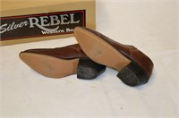 Silver Rebel Leather Shoes - Size 6
