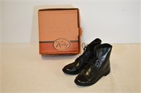 Kirby Black Leather Boots - Ladies Size 6