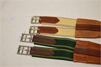 "(2) Leather Saddle Girths, 47 / 48"""