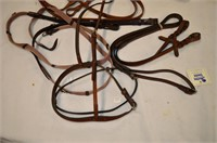 Box of Leather Bridle and Assorted Harness