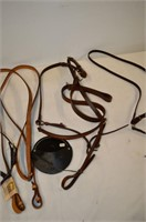 Box of Assorted Leather Harness