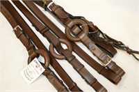 (2) Sets of Leather Side Reigns