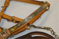Leather Show Halter with Lead