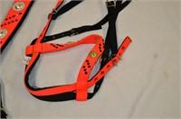 Orange Decorative Breast Collar with Halter