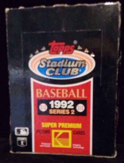 1992 Topps Stadium Club Baseball Card Box D S Auction Co