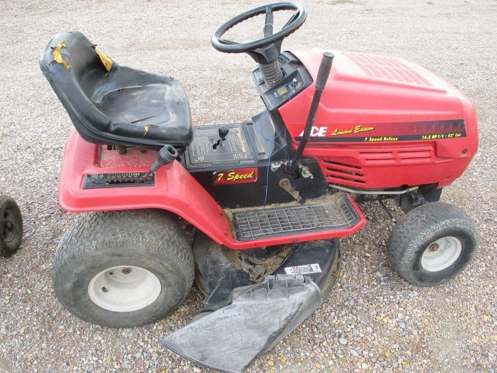 Ace Limited Edition 7 Speed Riding Mower | Prime Time Auctions