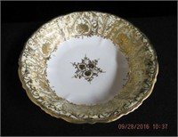 "Nippon gold decorated 9.75"" bowl"