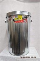 New 75L galvanized garbage can