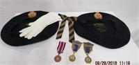 2 Legion Berets, bow tie, white gloves ,3