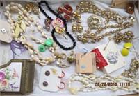 Costume jewelery - earrings, brooches,