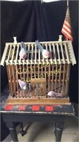 Wood Decorative Bird Cage