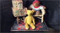 Children's Cardboard Blocks, 2 Bears, Chair,