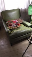 Green Vintage Leather Chair BRING HELP TO LOAD