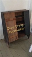 Primitive Painted Waines Coated Cabinet