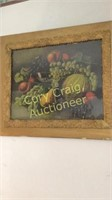 2 Fruit Pictures With. Vintage Frames