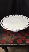 Milk Glass Cake Plate