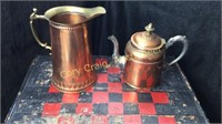 Copper Coffee Pot, Pitcher