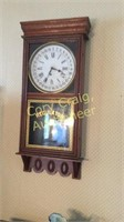 "Regulator Clock, With Key 38 1/2"""