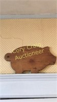 3 Pig Cutting Boards, Cow Weather Vane Piece