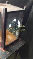 Wood Glass Show Case With Slid In door
