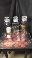 Glass Canisters Medicine Bottle