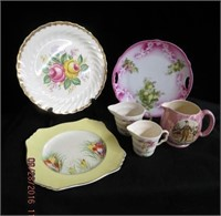 Royal Winton square plate, floral decorated plates