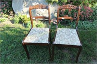 PAIR OF ROSE BACK OCCASIONAL CHAIRS