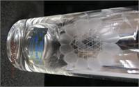 """Cornflower crystal 12 - 5 1/8"""" tumblers, 12 -4.25"""""""