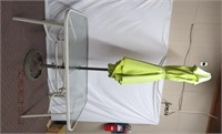 """60""""X 38"""" glass top patio table with umbrella and"""