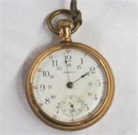 Men's Waltham gold pocket watch 15 jewel