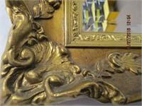 Gilt ornate framed bevelled plate glass mirror