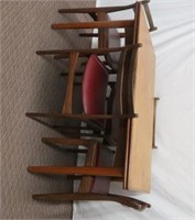 Teak Table and 4 side chairs