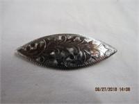 Sterling silver brooch 6cm long