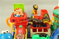 LARGE CONTAINER OF FISHER PRICE & EDUCATIONAL TOYS