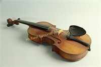VINTAGE VIOLIN WITH CASE AND TWO BOWS