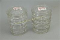 PAIR OF EDWARDIAN ENGLISH CRYSTAL CONTAINERS