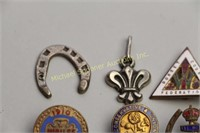EIGHT FRATERNITY PINS