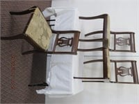 Set of 3 lyre back chairs