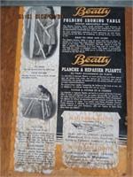 Beatty folding ironing table
